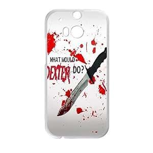 HTC One M8 Phone Case White Dexter-Blood WQ5RT7418160