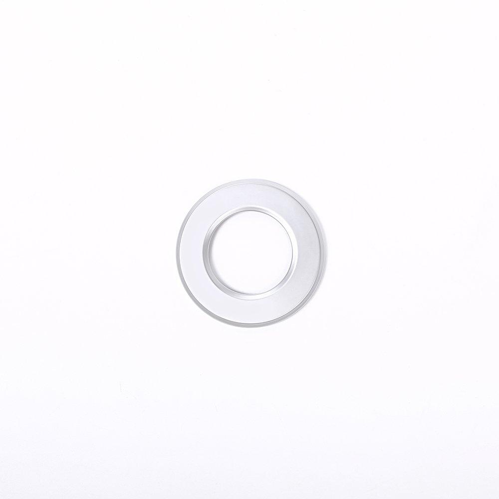 Pour Ghibli Quattroporte Car Styling ABS Argent mat D/écoration de d/émarrage du moteur Bague Cadre Bordure Accessoires Auto