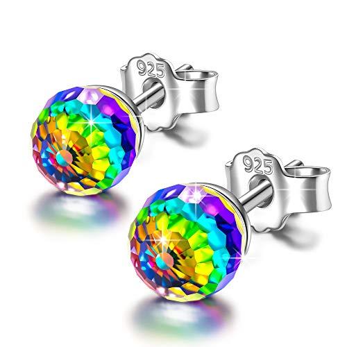 PAULINE&MORGEN Women Earrings Swarovski Crystal for girls birthday gifts for wife girlfriend daughter mom grandma crystals earrings for teen girls her jewelry for women Designer Austrian Crystal Pendant Necklace