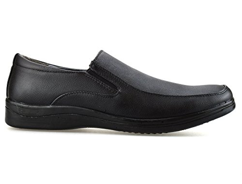 Mens Smart Casual Formal Slip On Loafers Work Office Driving Walking Shoes Black NCWFK