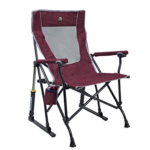 GCI Outdoor Maroon Roadtrip Rocker Folding Chair - the best outdoor rocking chair for the money
