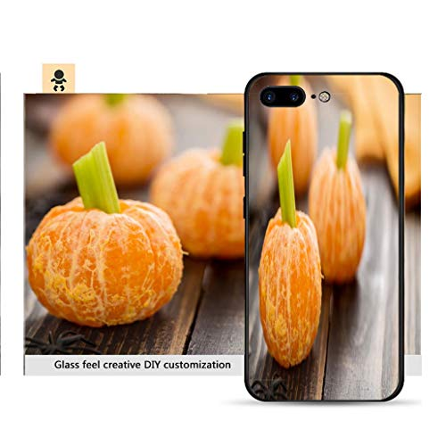 iPhone 7p / 8p Ultra-Thin Phone case Healthy Halloween Food Tangerine Pumpkins Snack Kids Resistance to Falling, Non-Slip, Soft, Convenient Protective case ()
