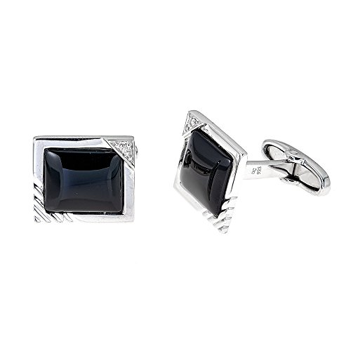 Diamond Onyx Cufflinks - 8