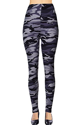 Flower Tights (VIV Collection Regular Size Printed Leggings (Gray Army Camouflage))
