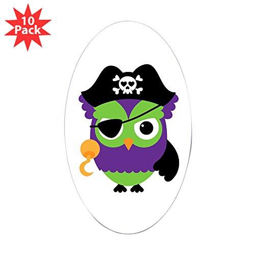 Sticker (Oval) (10 Pack) Little Owl