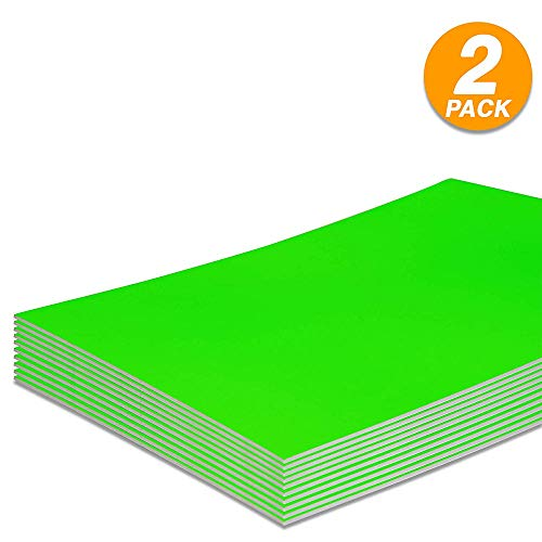 Foam Boards Lightweight Sign Blank Foam Core Poster Backing Boards School and Office Signboard Durable Poster Sheets Fluorescent Green Blank Signs for Presentation and Crafts (Pack of 2) by - Emraw