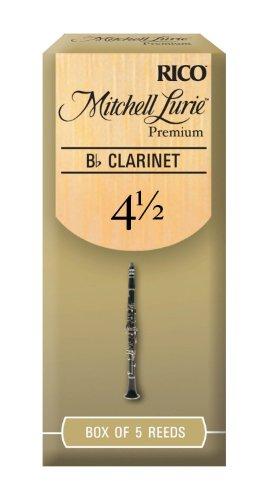 Mitchell Lurie Premium Bb Clarinet Reeds, Strength 4.5, 5-pack