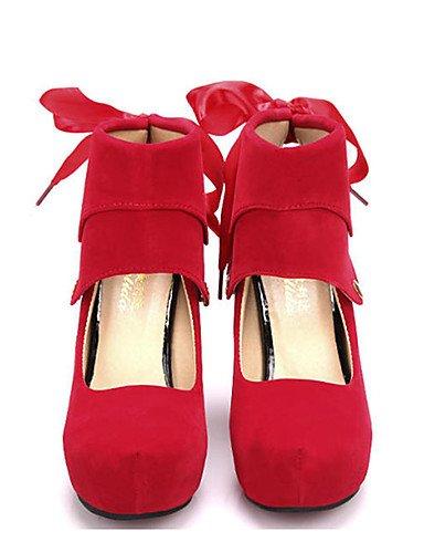 GGX    Damenschuhe-High Heels-Lässig-Vlies-Stöckelabsatz-Absätze-Schwarz   Rot B01KL7AMZO Sport- & Outdoorschuhe Bekannt für seine schöne Qualität 9b6edb
