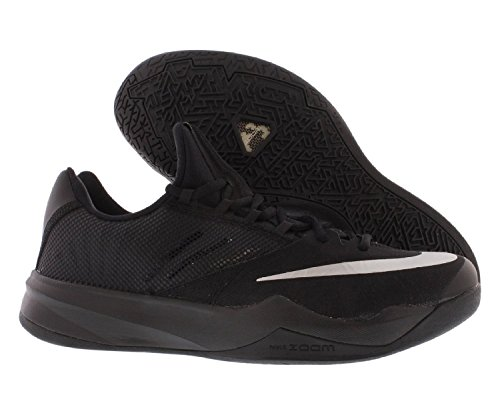 Pictures of nike Zoom Run The One Mens Basketball Black Metallic Silver 001 4