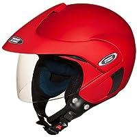 Studds Marshall Half Helmet (Matt Sports Red, L)