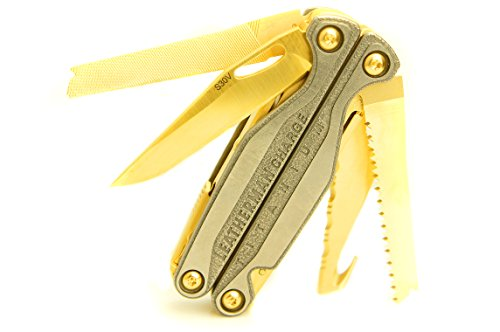 TTC Modified Tool - Golden Eagle Edition - Based on Leatherman Charge TTi Multi-Tool New Charge Tti