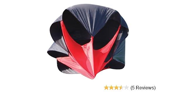 Fußball Running Power Chute Speed Training Resistance Exercise Parachute Black gF