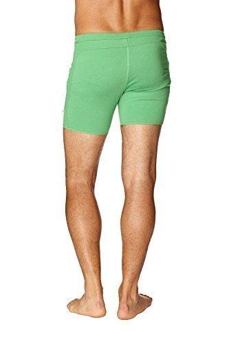 4-rth Mens Transition Yoga Shorts (Extra Small, Solid Bamboo Green)