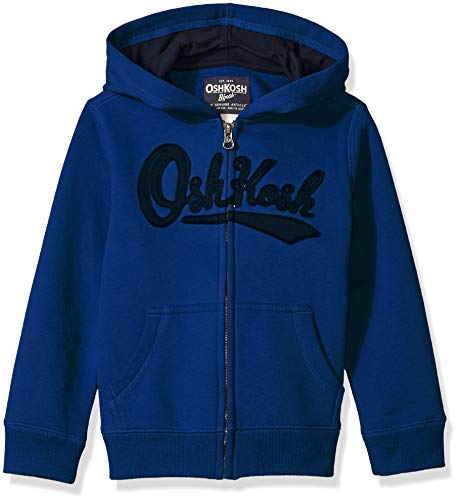OshKosh B'Gosh Boys' Toddler Full Zip Logo Hoodie, Wedgewood Blue, 2T