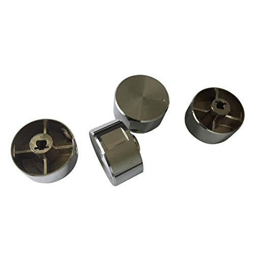 Earth Star Rotary Switch Gas Stove Parts Gas Stove Knob Zinc Alloy Round Knob with Chrome Plating for Gas Stove Pack of 4 PCS