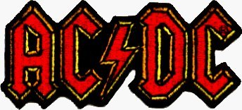 Fully Pant Embroidered Mens - AC/DC Embroidered Logo Patch #19031 (AC/DC, ACDC, AC-DC)