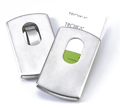 fb04aa53543 Amazon.com : Troika Slide Business Card Holder : Business Card Paper :  Office Products