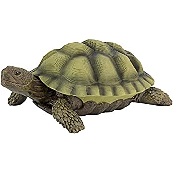 Design Toscano Gilbert The Box Turtle Garden Decor Animal Statue, 9 Inch,  Polyresin, Full Color