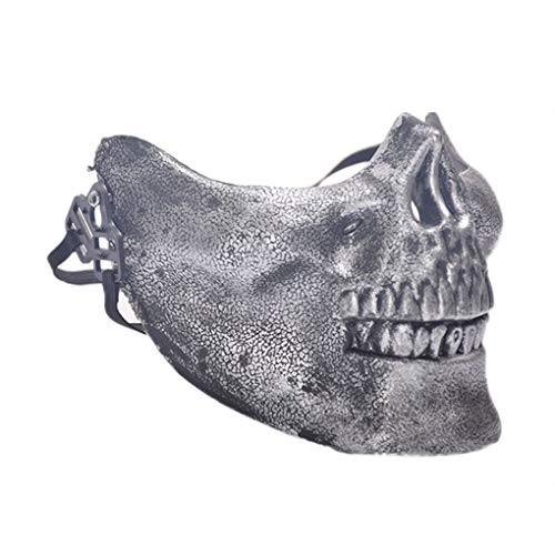 AUWU Halloween Masquerade Mask Horror Skull Design Face Mask for Party Costume Play Props ()
