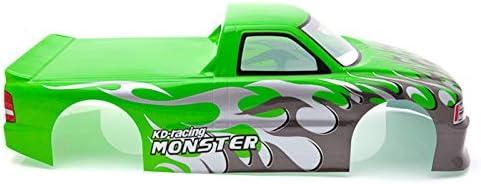 SNOWINSPRING f/ür 1//10 RC Auto Venom T-10 PVC Lackierte Karosserie 1//10 RC Auto Pick Up Truck Breite 205Mm Radstand 255Mm Gr/üN