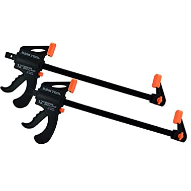B&M Tool Ratchet Bar Clamp and Spreader (12 Inch - 2 Pack)