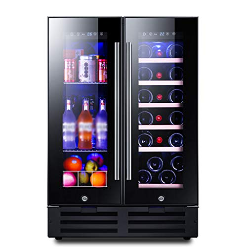 Hermsi 116L Dual Zone Wine Cooler|Chiller, Built-in Or Freestanding, Smart Memory|Quiet Operation Fridge|Touch Temperature Control, for Wine, Beverages, Medicines