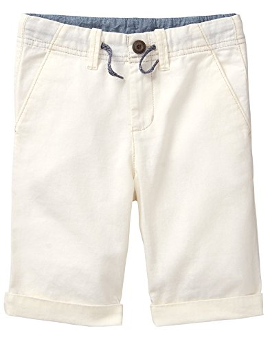 Kids Linen Shorts - Gymboree Boys' Little Bermuda Shorts, Ivory,