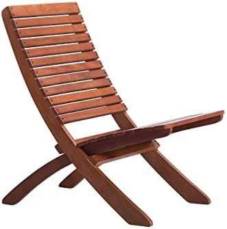 Arboria Folding Outdoor Wood Chair Eucalyptus Hardwood, Warm Mahogany Color 30.75 Inches High 880.1372