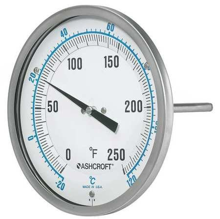 Dial Thermometer Every-Angle 6 In Stem