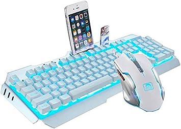 UrChoiceLtd® M398 Cableado Retroiluminado Con LED Ergonómico Teclado Para Juegos USB Metal Cable Resistente Al Agua 2000DPI 6 Botones Retroiluminado ...