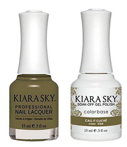 Kiara Sky Matching Gel Polish and Nail Lacquer Call it Cliche, 568