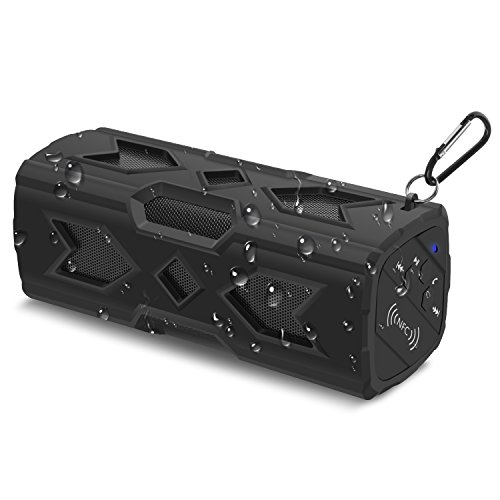 Bluetooth Speaker, Silipower Portable Waterproof Outdoor Wireless Speakers Built-in Mic, Dual 8W Drivers for Travel, Beach, Shower & Home