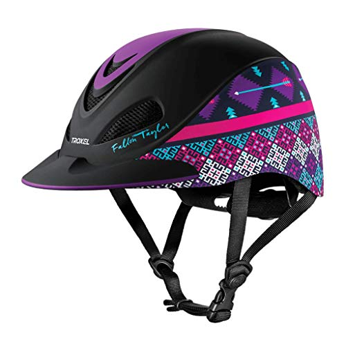(Fallon Taylor TROXEL Purple GEO Horse Riding Helmet Low Profile Adjustable (Small))