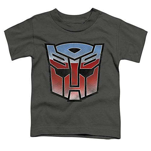 Transformers Vintage Autobot Logo Unisex Toddler T Shirt for Boys and Girls, Medium (3T) Charcoal
