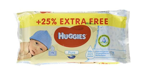 Amazon.com: Huggies Baby Wipes (72 Count (Pack of 9), Pure): Health & Personal Care