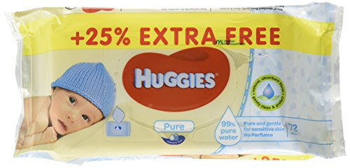Huggies Baby Wipes (72 Count (Pack of 9), Pure)
