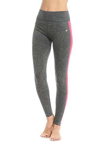 Color Block Track Leggings (Large/X-Large, Neon Pink) - Mix N Match 1 Light