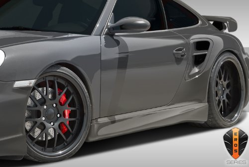 997 Body - Duraflex ED-USN-495 Eros Version 1 Side Skirts Rocker Panels - 2 Piece Body Kit - Compatible For Porsche 997 2005-2012