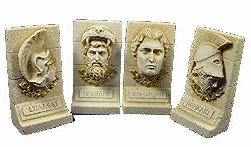 Estia Creations Alexander The Great Heracles Achilles Pericles Ancient Greek Sculpture Set ()