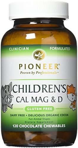 Pioneer Nutrition Children's Calcium Magnesium & D Chocolate Supplements, 120 Count