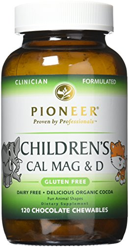 Pioneer Cal Mag & D Vegetarian Chewable Tablets for Children (120 (Chewable Jungle)