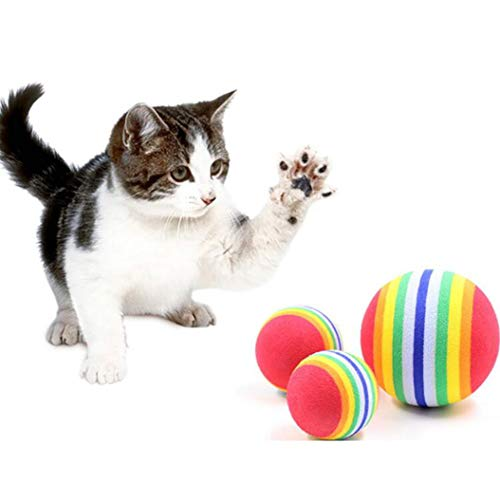 Play Chewing Rattle Scratch EVA Ball Training Cute Pet Supplies 3.5cm Ball Interactive Cat Toy (1pcs)