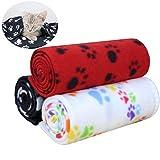 KYC 3 pack Puppy Blanket Cushion Dog Cat Fleece Blankets Pet Sleep Mat