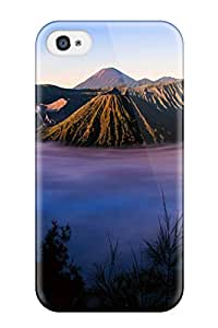 New Style Tpu 4/4s Protective Case Cover/ Iphone Case - Stratovolcano Bromo
