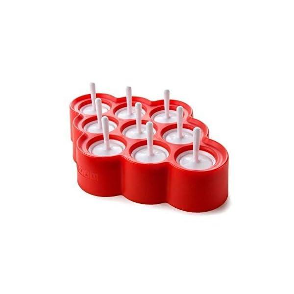 Zoku Slow Pops - stampi in silicone per ghiaccioli facili da rimuovere con protezioni antigoccia 3 spesavip