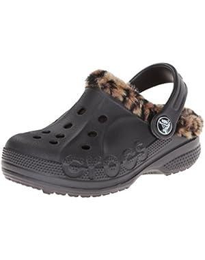 Kids' Baya Leopard Lined Clog