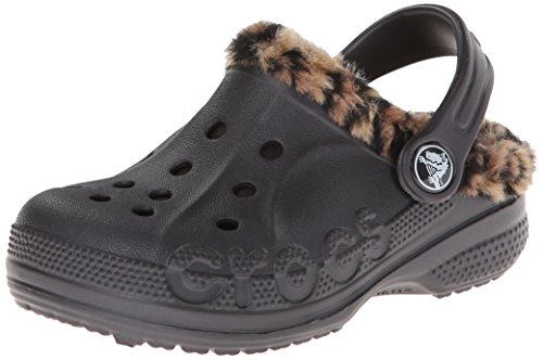crocs 16239 Baya Lpd Liner Clog ,Onyx/Gold,1 M US Little Kid