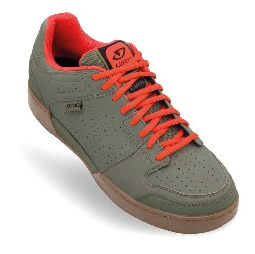 Giro Jacket Mountain Bike Shoes (Army/Glowing Red/Gum, 44) - Men's (Red Bike Mens Shoes)