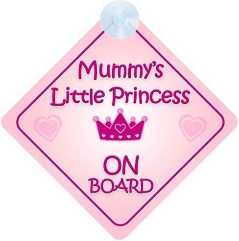 Mybabyonboard Uk Mummy S Little Princess On Board Autoschild Für Kinder Babys Nicht Personalisierbar Auto