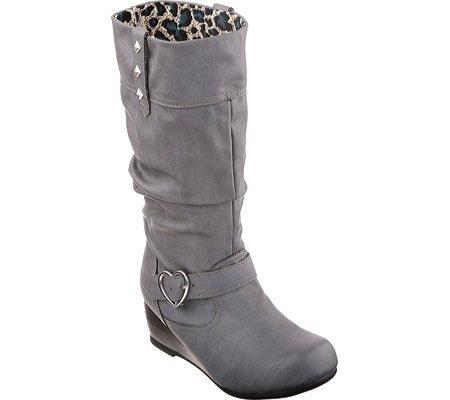 Skechers Kids Heartstoppers -Heart Stealers Tall Boot (Little Kid/Big Kid), Charcoal, 12 M US Little Kid - Skechers Tall Boots